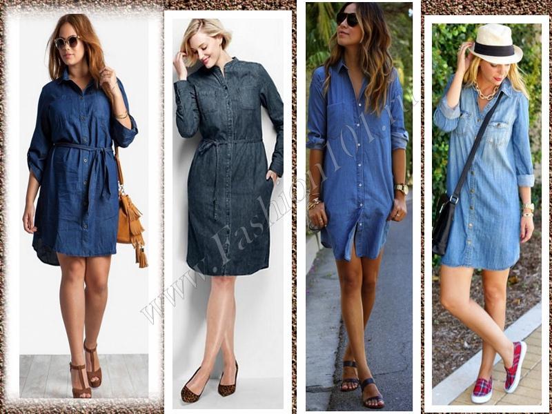 Платье рубаха из джинса