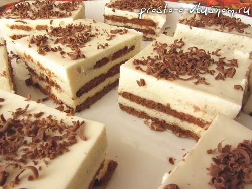Рецепты торты без выпечки из печенья с фото