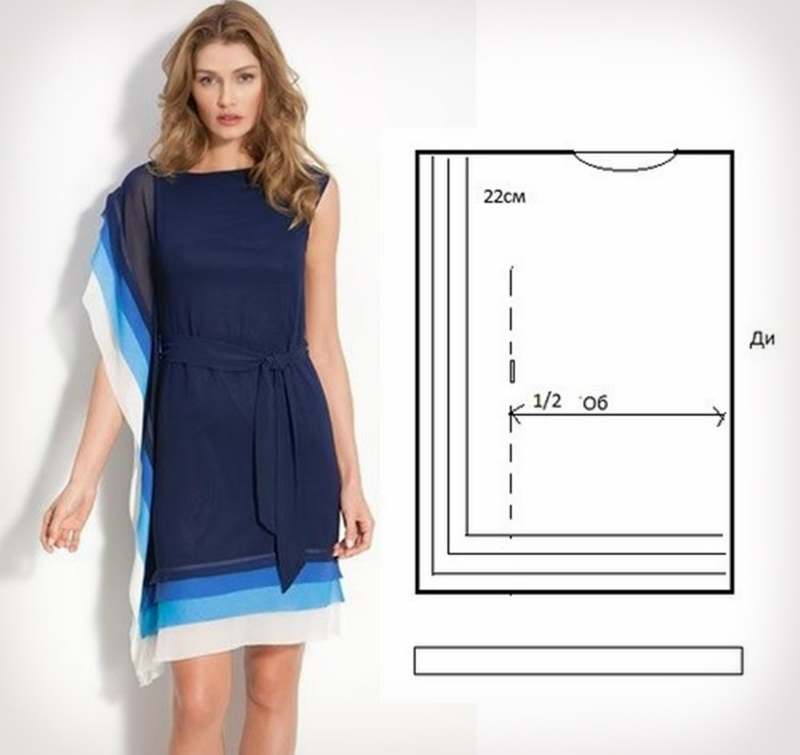 Легкое платье модели выкройки