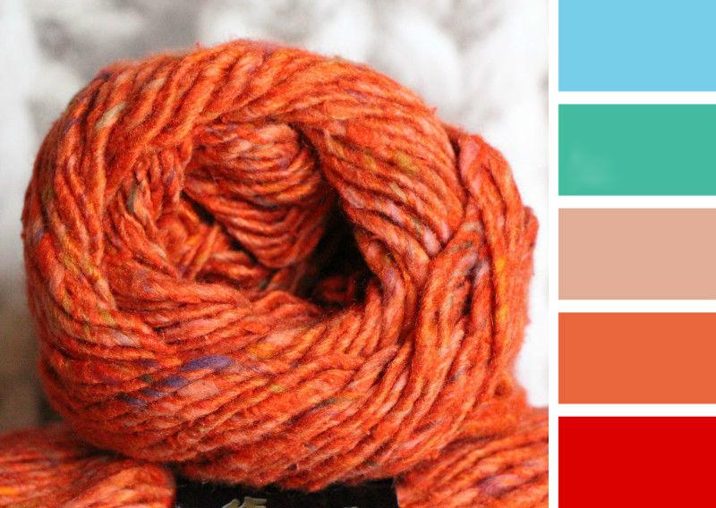 С каким цветом сочетается бежевый цвет при вязании 47