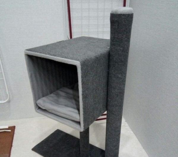 Как сделать домик для кошки своими руками  пошаговое