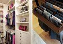 Вспышка вдохновения! 27 идей для гардеробной комнаты и даже для комнатушки.
