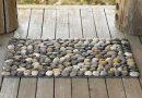 Коврик из камней — простая и оригинальная вещь, которую может сделать каждый!