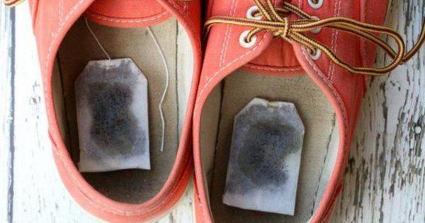 Она положила чайный пакетик в обувь. Узнав причину вы сделаете так же!