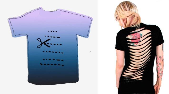 Как сделать из футболки с рисунком сделать модную футболку