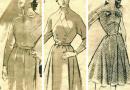 Модные выкройки платьев, о которых когда-то мечтали все женщины 50-х