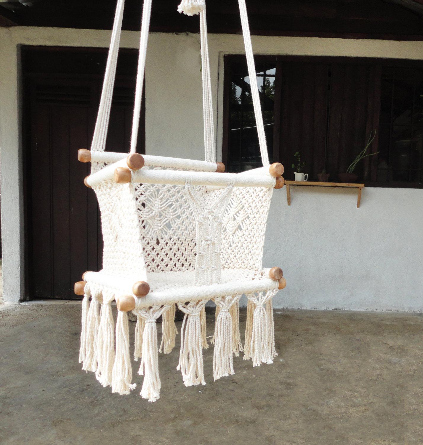 Сплести подвесное кресло макраме