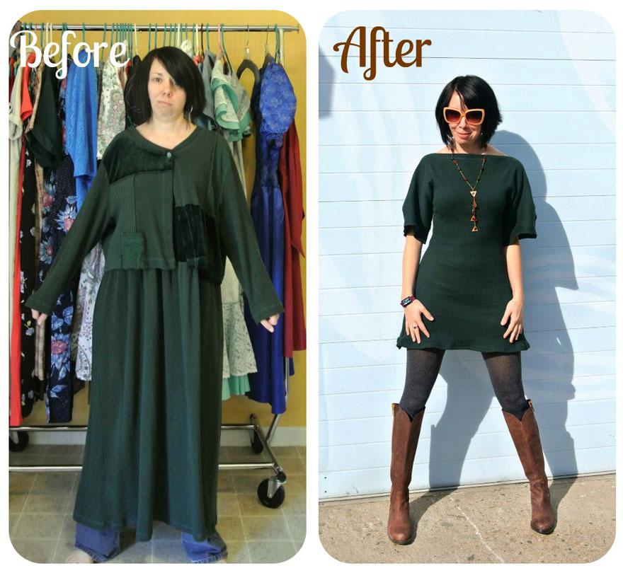 Как переделать платье своими руками фото втором