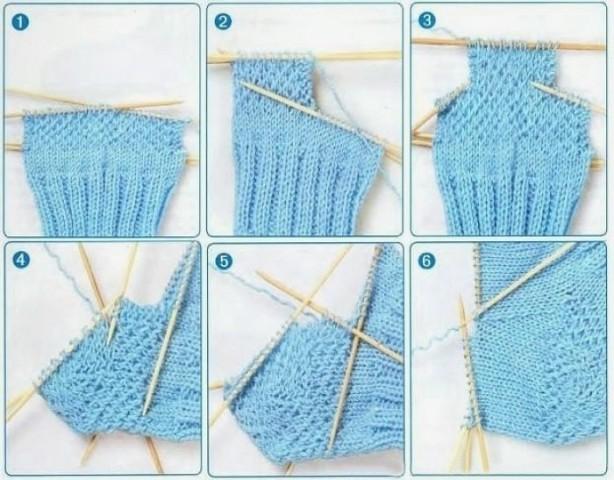 варианты пяточек для вязанных носков схемы в курсе жизни