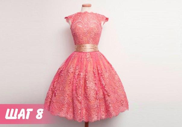 Праздничное платье одним швом