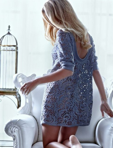 Great sweater with Irish lace: an idea and designs … more than beautiful!