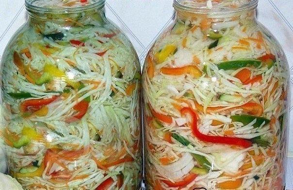 132Рецепты салатов с капустой на зиму