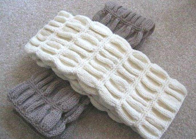 вязаный спицами шарф гармошка в курсе жизни