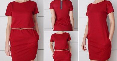 Платье-кокон – выкройка на 44-46 размеры