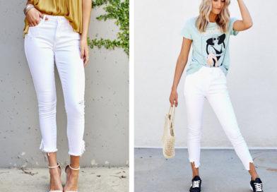 С чем носить белые джинсы: модно и женственно — 4 стильных варианта