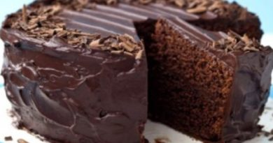 Влажный шоколадный пирог без яиц