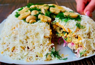 Вкусный и красивый салат «Славяночка»
